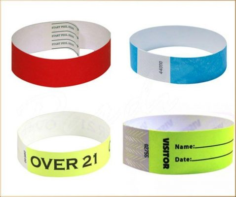 vòng tay giấy in mã số