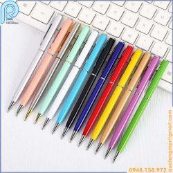 bút bi kim loại thân nhỏ